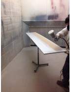 MDF Clear Lacquer Spraying